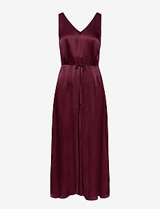 Shania Midi Dress - midi dresses - tawny port