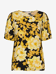 Rosanna 2/4 Top Printed - blouses med korte mouwen - rosanna print pattern