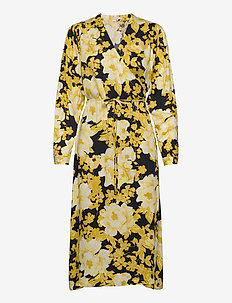 Rosanna Midi Dress Printed - wrap dresses - rosanna print pattern