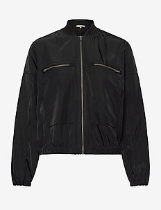 Evalia Bomber Jacket - bomber jacks - black