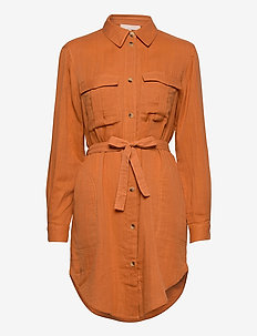 Angelie LS Shirt - shirt dresses - tomato cream