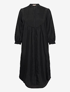 Nelly 3/4 Long Shirt - shirt dresses - black