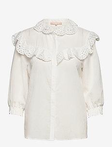 Nelly 3/4 shirt - långärmade blusar - snow white / off white