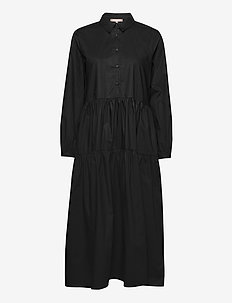 Jessie Midi Shirt Dress - blousejurken - black