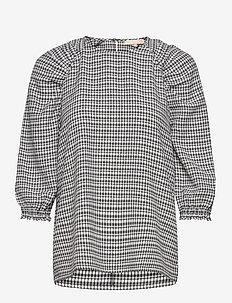 Mate 3/4 Top - long sleeved blouses - black