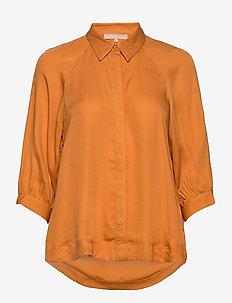 Rosanna 3/4 Shirt - long sleeved blouses - tomato cream