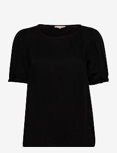Rosanna 2/4 Top - kortärmade blusar - black