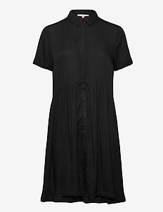 Rosanna SS Shirt Dress - shirt dresses - black