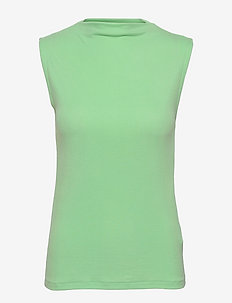 SRNorma Funnel Top - sleeveless tops - arcadian green
