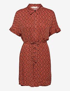 SRLeah Shirt Dress - summer dresses - blur flower rooibos