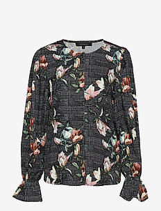 Mui Blouse - long sleeved blouses - 791 mui print