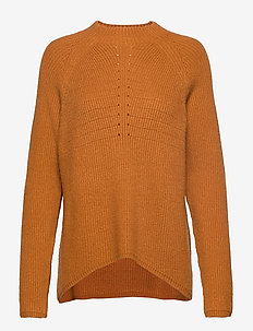 Mille T-neck Knit - jumpers - inca gold