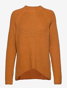 Mille T-neck Knit - truien - inca gold