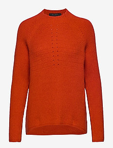 Mille T-neck Knit - jumpers - rooibos tea