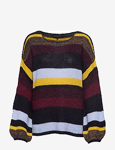 Softy O-neck Knit - jumpers - total eclipse