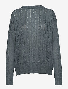 Calby O-neck Knit - swetry - blue mirage