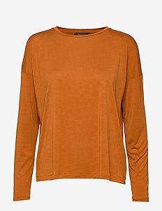 Ella LS Loose Blouse - sweatshirts - caramel café
