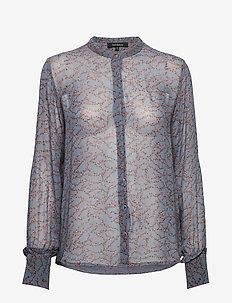 Selina Shirt - FLOWVY PRINT BLUE