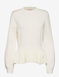 Lumba Peplum Knit - truien - snow white / off white