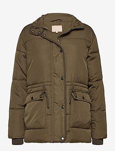 Layla Puffer Jacket - gewatteerde jassen - dark olive