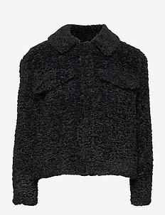 Wendy Jacket - faux fur - black