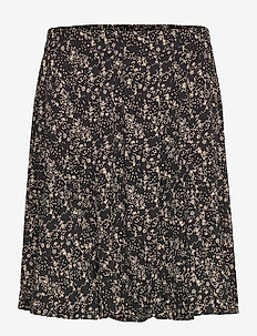 Dee Skirt - korte nederdele - mini leaf black print