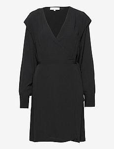 Dora Wrap Dress - summer dresses - black