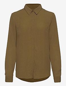 Dora LS Shirt - blouses med lange mouwen - dark olive