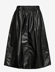 Alba Midi Skirt - midi skirts - black