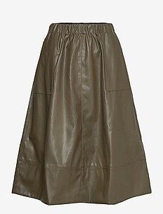 Alba Midi Skirt - midi skirts - dark olive