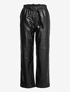 Alba 7/8 Pant - wide leg trousers - black