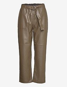 Alba 7/8 Pant - wide leg trousers - dark olive
