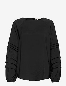 Amelia LS Top - blouses med lange mouwen - black