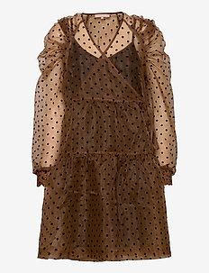 Tula Midi Wrap Dress - wrap dresses - iced coffee