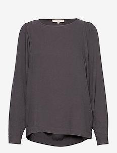 Bianca LS Top - blouses med lange mouwen - asphalt