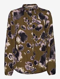 Carli LS Shirt Printed - blouses med lange mouwen - atmos print