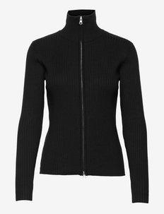 SRAron Zip Cardigan Knit - cardigans - black