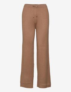 SRAron Pant Knit - straight leg trousers - brush