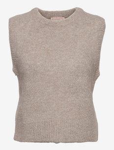 SRStinne Vest Knit - knitted vests - silver cloud