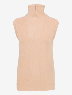 SRJenny Zip Vest Knit - knitted vests - brush