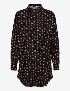 SREnora Long Shirt - tunics - mini bouquet cheddar