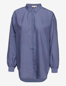 SRLinnea LS Shirt - long sleeved blouses - colony blue