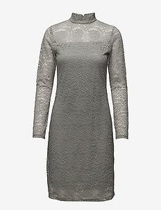 Sisse Dress - spetsklänningar - 004 antrazit melange