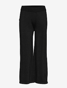 Lyne pants knit - wide leg trousers - black