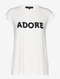 Adore SS T-shirt - SNOW WHITE / OFF WHITE