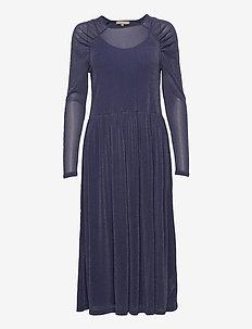 Albertine Dress - sukienki do kolan i midi - bijou blue