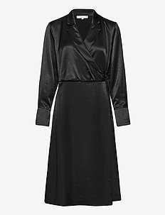 SREliza Wrap Dress - cocktail dresses - black