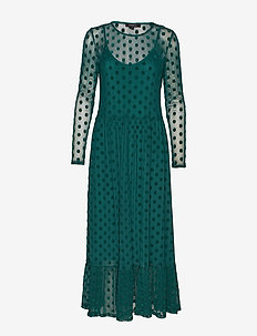 Smile LS Midi Dress - EVERGREEN