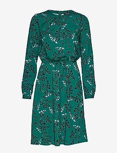 Leaf LS Dress - EVERGREEN