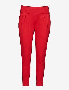 Freya Stripe Pant 7/8 - straight leg trousers - 350 spizy red